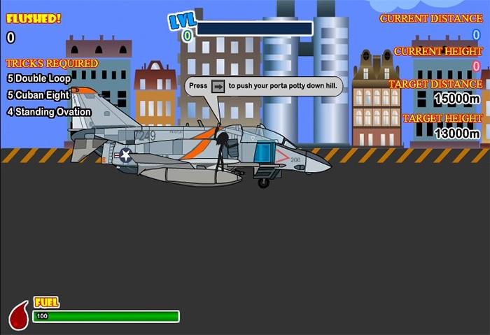 Potty airplane